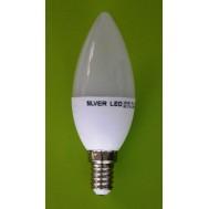 BEC LED C37 5W - 6000K LUMINA RECE
