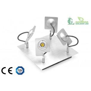 Lampa spot  LED 12W (4*3W) 3000K Lumina Calda