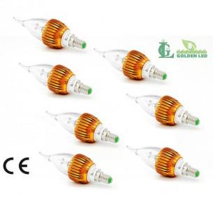 Pachet becuri led Bec LED lumanare 3W-6000K Lumina Rece 7 bucati