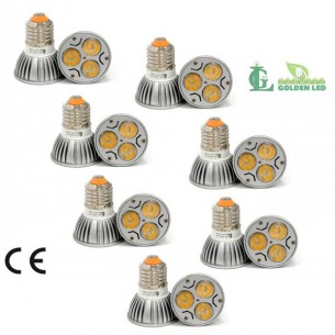 Pachet becuri led Bec LED 3W-3000K Lumina Calda 7 bucati