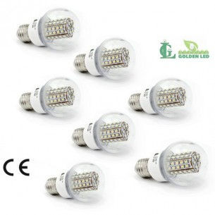 Pachet becuri led Bec LED 3W-3000K Lumina Calda - Transparent 7 bucati