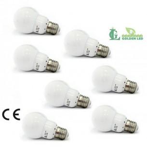 Pachet becuri led Bec LED 3.8W-6000K Lumina Rece - MAT 7 bucati