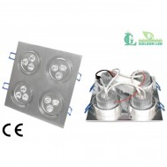 Pachet Promotional 10 x Spot LED 12W-6000K Lumina Rece