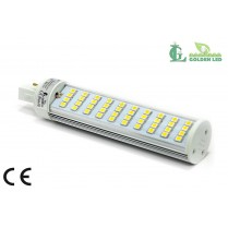 Bec LED G24 8W-2700-3200K Lumina Calda-Transparent