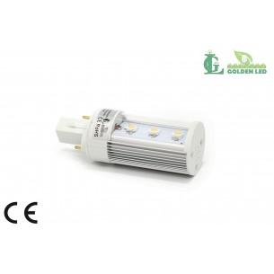 Bec LED G24 3W -5500-6000K Lumina Rece-TRANSPARENT